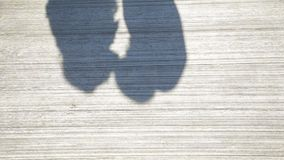 Couple Kissing Shadow. Shadows of Lover Bride and Groom on white wall. Couple Kissing Shadow stock footage