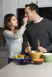 Couple in kitchen. Royalty Free Stock Images