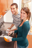 Couple in the Kitchen Royalty Free Stock Images