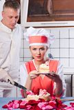 Couple in the kitchen. Stock Image