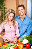 Couple in the kitchen Royalty Free Stock Photo