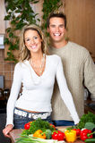 Couple in the kitchen Royalty Free Stock Photos