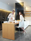 Couple in the kitchen l Royalty Free Stock Photography
