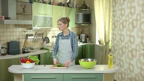 Couple in the kitchen. stock video footage