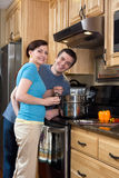 Couple in the Kitchen - Vertical Stock Photos