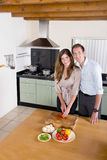 Couple in Kitchen Stock Photography