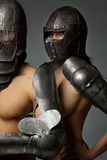 Couple of knights Stock Image