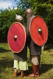 Couple of knights. In chain mail Royalty Free Stock Photo