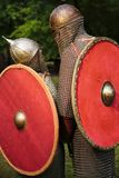 Couple of knights. In chain mail Stock Image