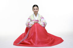 Couple in Korean Dress. Asian Ethnicity Royalty Free Stock Photo