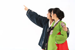Couple in Korean Dress I Stock Photography