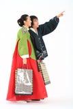 Couple in Korean Dress I Royalty Free Stock Photo