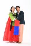 Couple in Korean Dress I Stock Photos