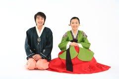 Couple in Korean Dress I Stock Images