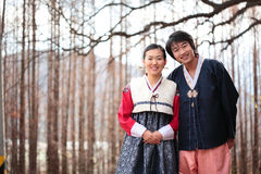 Couple in Korean Dress II Royalty Free Stock Images