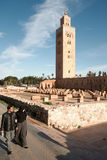 Couple at Koutoubia Mosque, Marrakech Royalty Free Stock Image