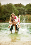 Couple on the lake Stock Photography