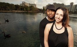 Couple by the lake Royalty Free Stock Images