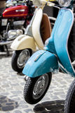 Couple of Lambrettas early 50s Royalty Free Stock Photography