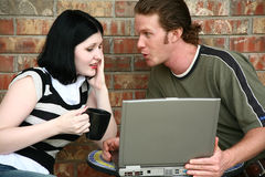 Couple with Laptop Stock Photos