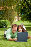 Couple on a laptop Stock Image