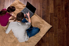 Couple with Laptop - Horizontal Stock Photos
