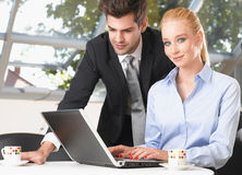 Couple with Laptop Stock Photos