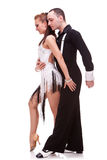 Couple of latino dancers posing Stock Images