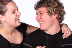 Couple laughing royalty free stock photos