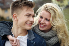 Couple laughing in itself Stock Photo