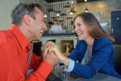 Couple laughing on joke Stock Image