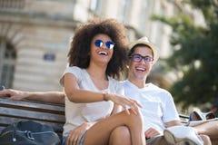 Couple laughing at joke Royalty Free Stock Image