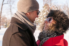 Couple Laughing In The Park Together Stock Image