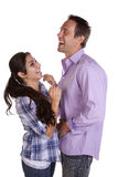 Couple laughing standing Royalty Free Stock Image
