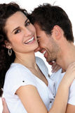 Couple laughing together royalty free stock photo