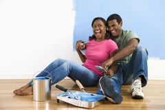 Couple laughing together. Stock Image