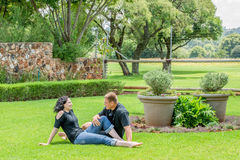 Couple on Lawn Royalty Free Stock Images