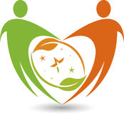 Couple leaf logo Royalty Free Stock Photos