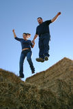 Couple Leap of Faith Royalty Free Stock Photos