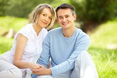 Couple at leisure Stock Images