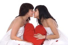 Couple of lesbian woman in love Royalty Free Stock Image