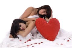 Couple of lesbian woman in love royalty free stock images