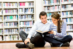 Couple at the library Royalty Free Stock Image
