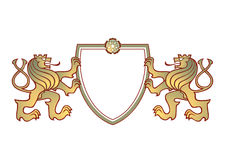 Couple of lions crest Stock Image