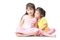 Couple little asian girl Stock Photography