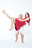Couple of little man and woman Stock Photography