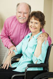 Couple Living with Disability Royalty Free Stock Photography