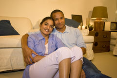 Couple in Living Room Royalty Free Stock Photos