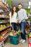 Couple at a local supermarket Royalty Free Stock Photography