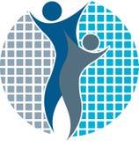 Couple logo Royalty Free Stock Image